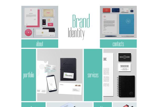 brand identity free html5 templates
