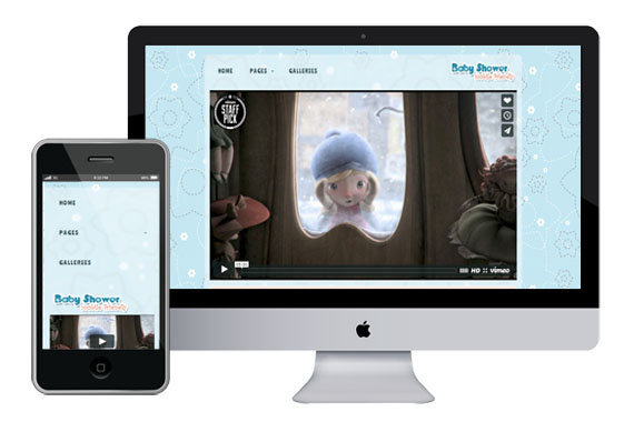 babyshower free responsive html5 templates themes