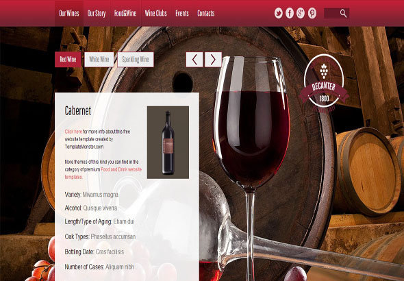 winery free html5 templates  themes