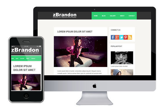 zBrandon free responsive html5 css3 templates themes