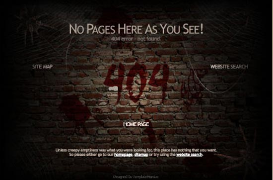 404 Page Not Found Html Template responsive free website elements ...