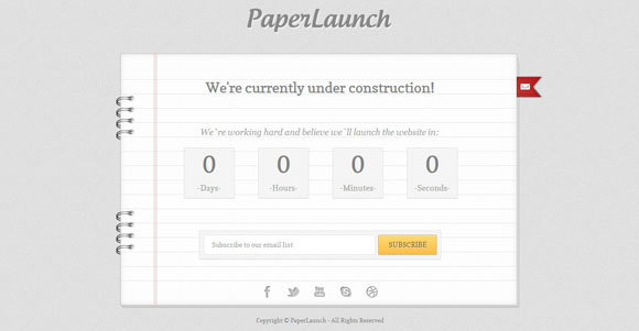 PaperLaunch Coming Soon Template templates