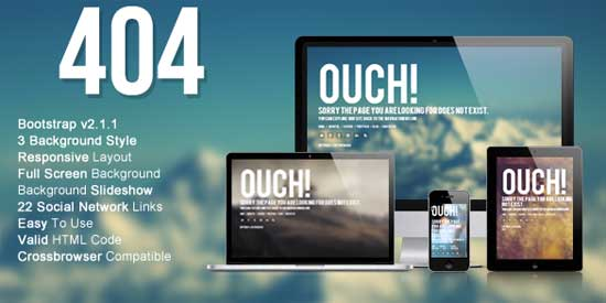 Wizm-404-Responsive-error-template