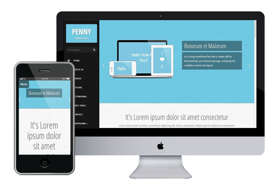 penny free responsive html5 templates