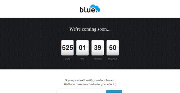 blue Coming Soon Page templates
