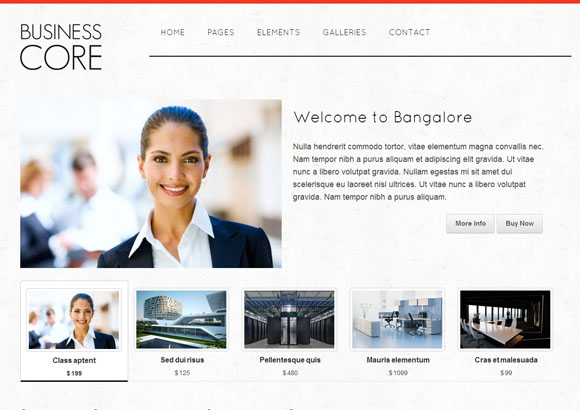 business core html5 theme