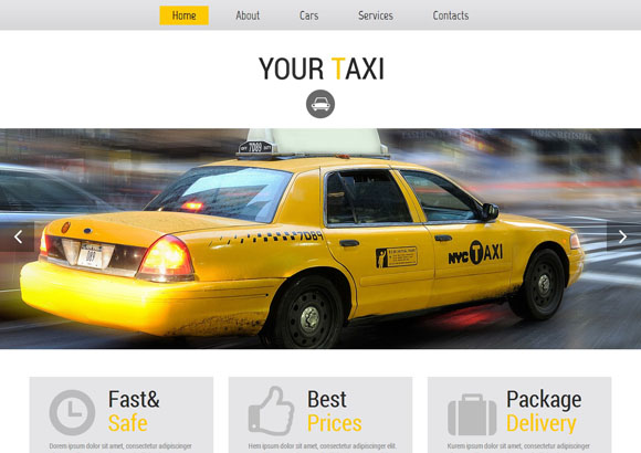 yourtaxi html5 templates
