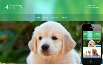 4Pets – Responsive Html5 Template