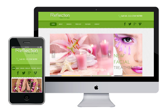 Free Reflection Salon span Website Template Home w3layouts