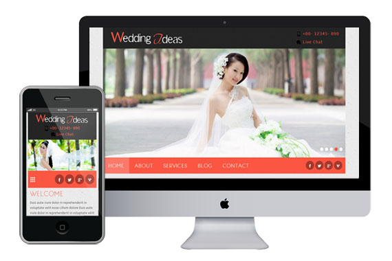 Free Wedding Ideas Website Template   Home    w3layouts