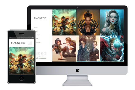 Magnetic   Stunning Responsive HTML5 CSS3 Photography Wensite Template