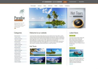 Paradise – Free Css Template