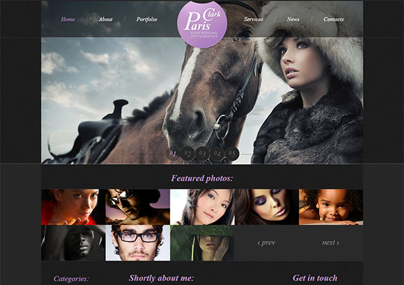 ParisClark Html5 Theme