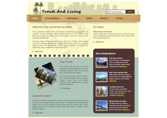 TravelLiving – Free Css Template