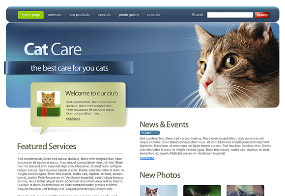catcare html template