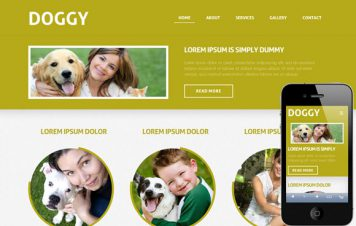 Doggy – Responsive Html5 Template