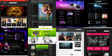 Free Music and Movie Html5 Responsive Themes