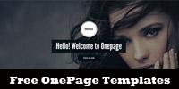 Free OnePage Html5 Css3 Templates