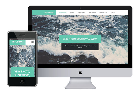 infusion free responsive html5 template