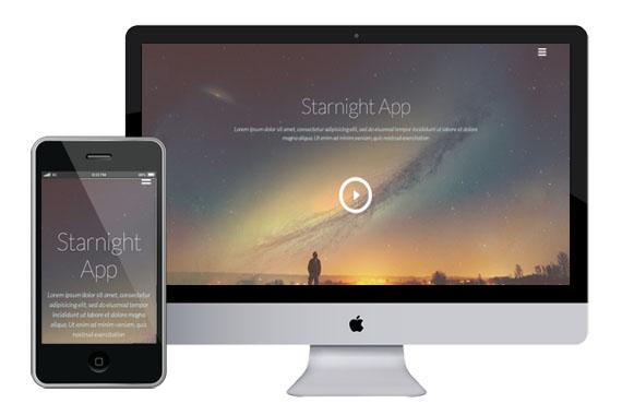 starnight free responsive html5 templates