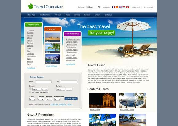 travel operator css templates