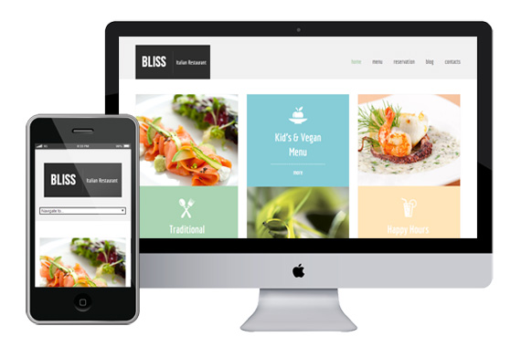 Bliss responsive html5 template html5xcss3 for What is a responsive template