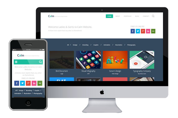 calm free responsive html5 templates