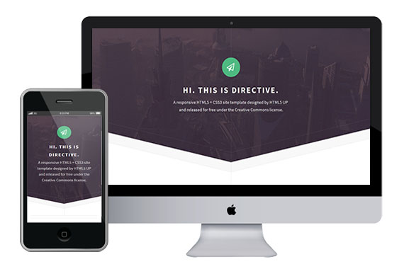 Directive Free responsive html5 css3 themes