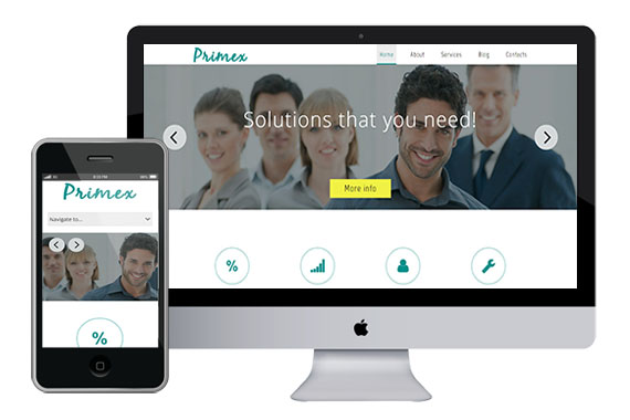 Primex free responsive html5 css3 theme