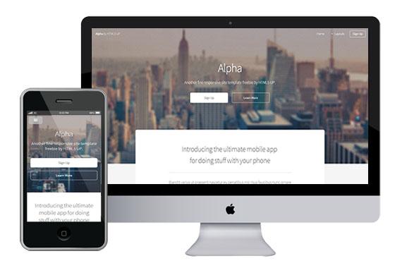 alpha free responsive html5 css3 templates