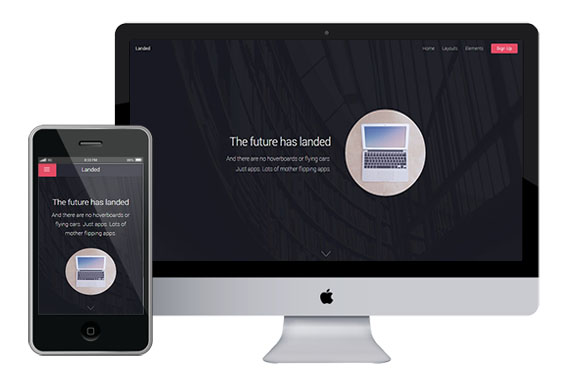 landed free responsive html5 css3 themes