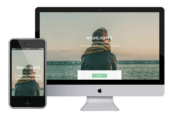 highlights free responsive html5 and css3 templates