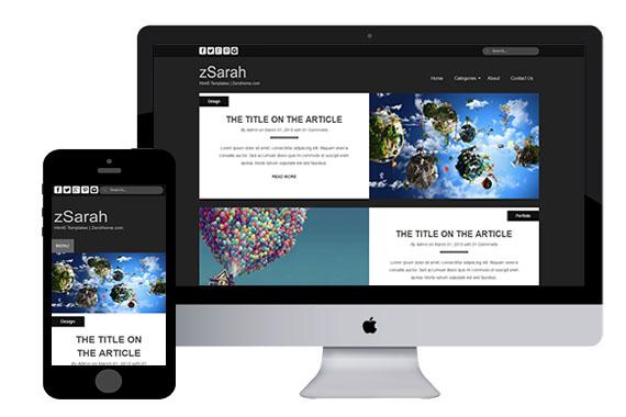 zSarah free responsive html5 css3 templates