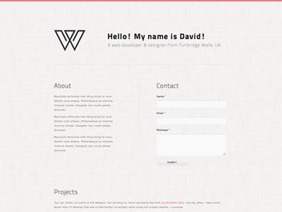 Create A Minimal Single Page Portfolio With HTML5CSS3
