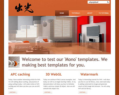 Creating Mono HTML5 CSS3 Single Page Layout