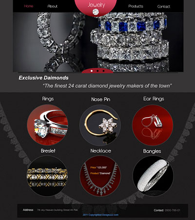 Easily Coding a Jeweler Website to HTML5 CSS3 from PSD
