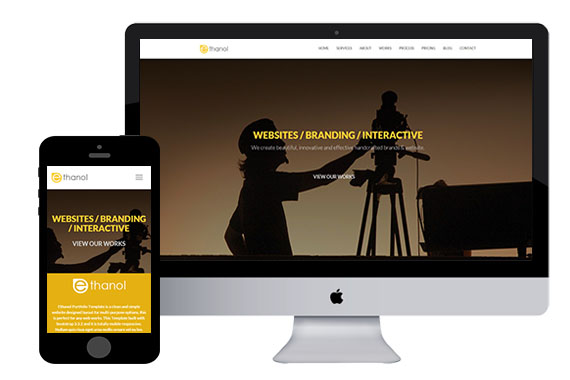 ethanol bootstrap responsive html5 template