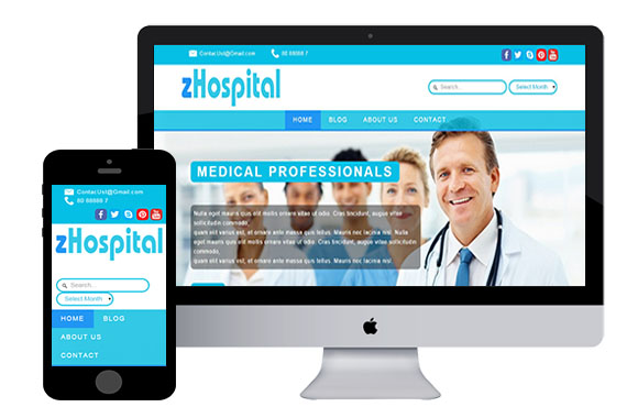 zHospital free responsive html5 template