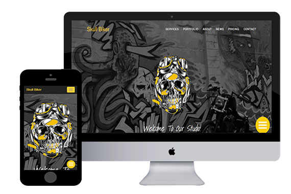 Skull Biker Free Bootstrap Themes and Html5 Templates