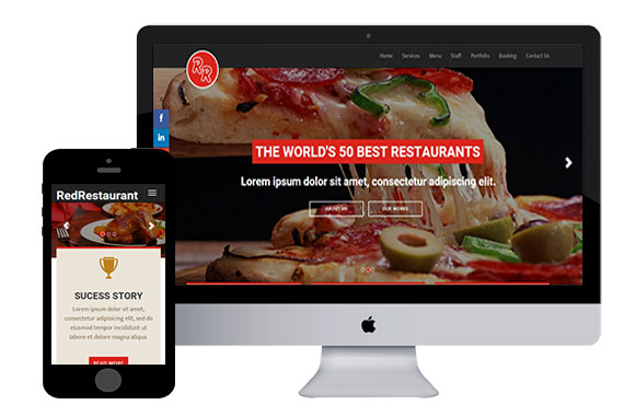 red restaurant free bootstrap themes and html5 templates