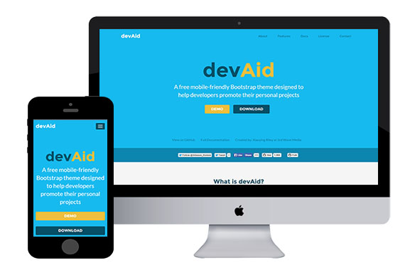 devaid free html5 bootstrap themes