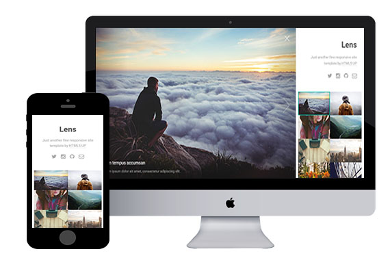lens free responsive html5 templates