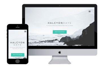 HalcyonDays –  Responsive Html5 Theme