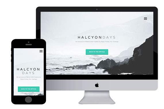 Halcyon Days free html5 responsive templates