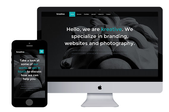 Kreative free html5 responsive templates