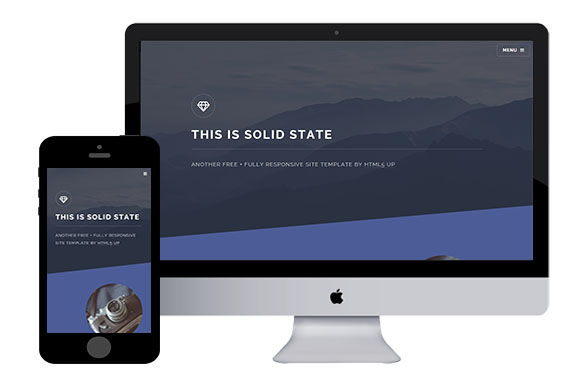 solid state free responsive html5 template