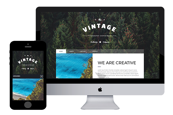 Vintage - Free Bootstrap Themes
