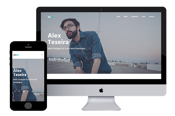 aircv - free bootstrap template